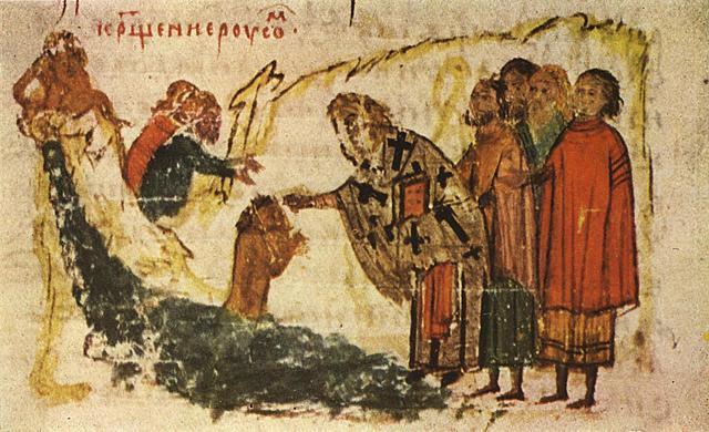 В лето 6496 (988г. н.э.) Крещение Руси Владимиром Святым