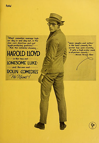 "HAROLD LLOYD ""Cine mudo"""