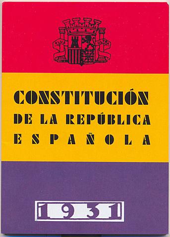 Aprobación de la Constitución. Gobierno de Azaña