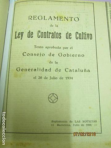 Ley de Contratos de Cultivos declarada inconstitucional