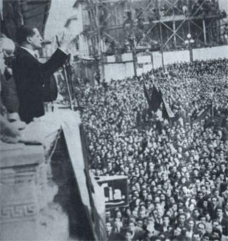 manifestación de sastres que protestaban por la orden de elaborar los uniformes