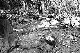 Masacres por parte de la guardia nacional