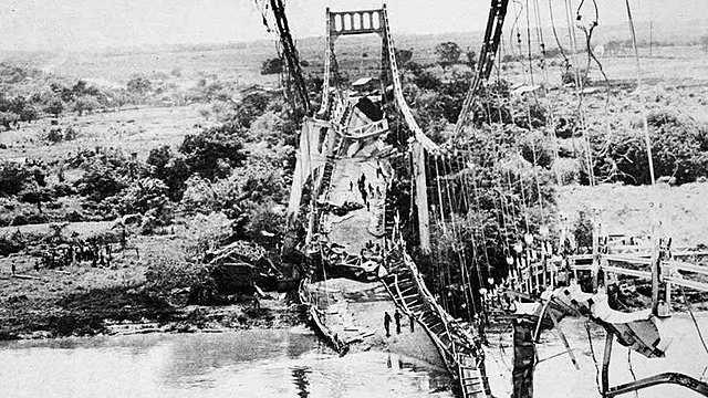 Dinamitan Puente de Oro, una obra millonaria destruida.