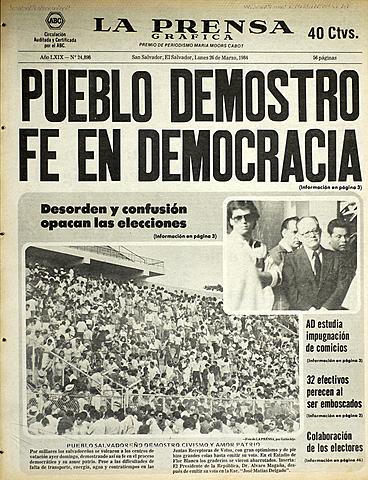 Pueblo salvadoreño busca democracia