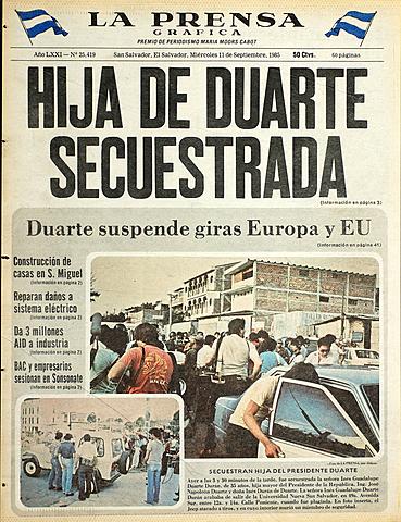 Hija del Presidente Duarte es secuestrada