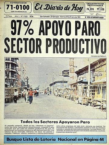 El accionar económico de El Salvador, se paraliza