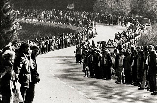 Menschenkette gegen Atomraketen