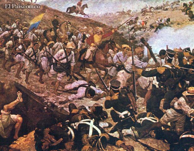 Triunfo tropas libertadoras contra españolas