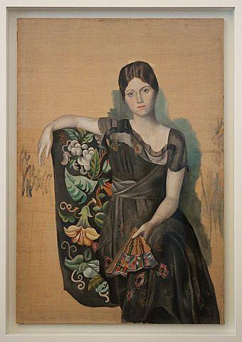 Prof - Achèvement / inachèvement / Pablo Picasso: «Portrait d'Olga dans un fauteuil» (peinture à l'huile sur toile, 130 x 88,8 cm, Musée Picasso, Paris)