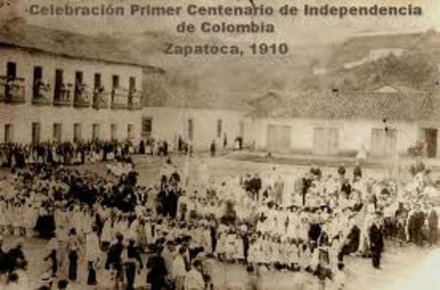 (Centenario) del grito de independencia colombiano.