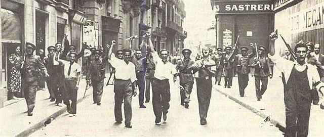 EXTENSIÓN DE LA REVOLUCIÓN SOCIAL POR LA ZONA REPUBLICANA
