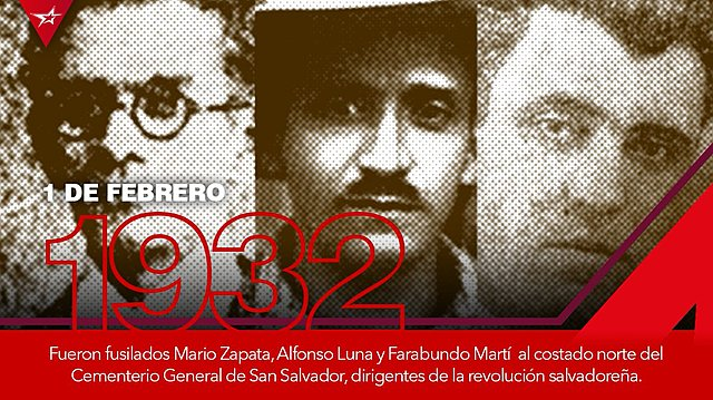 Fusilamiento de Alfonso Luna y Mario Zapata.