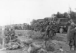 Llegada de los primeros soldados italianos.