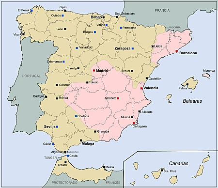 Ofensiva contra Cataluña por parte de franquistas.