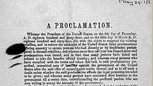 Proclamation of Amnesty and Reconstruction