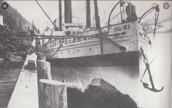 """The first stampeders arrived in Skagway on the """"Queen"""" steamship"""