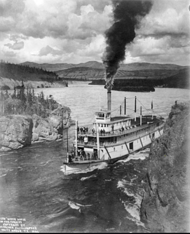 """The state's first steamboat was built named """"The Yukon"""""""