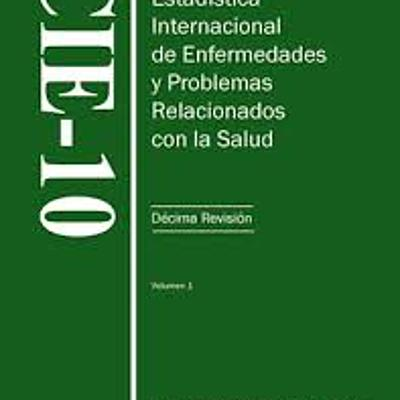 CIE 10 (Clasificación internacional de enfermedades, 10.ª edición) Enlace:  timeline