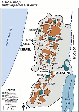 Oslo II Accords Signed between Israel and PLO