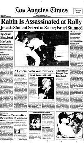 PM Yitzhak Rabin Assassinated