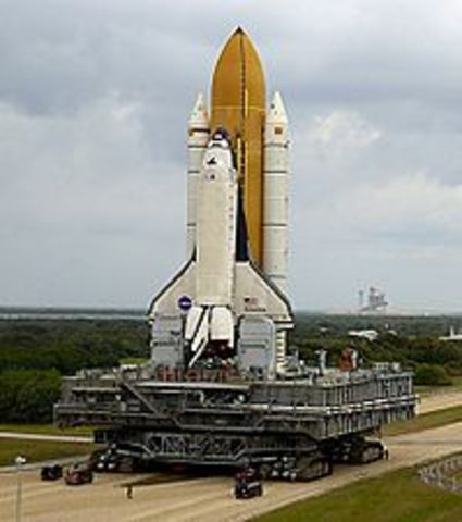 The Space Shuttle Columbia takes off for mission STS-107