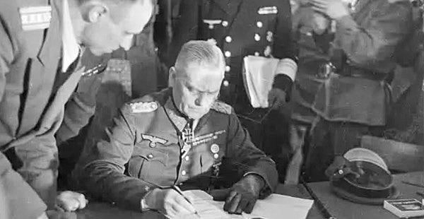 Firma de la rendició d'alemanya