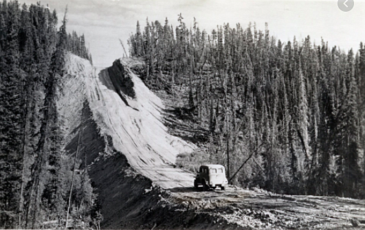 Bulldozers were only able to cover six miles a day when building the Alaska Highway