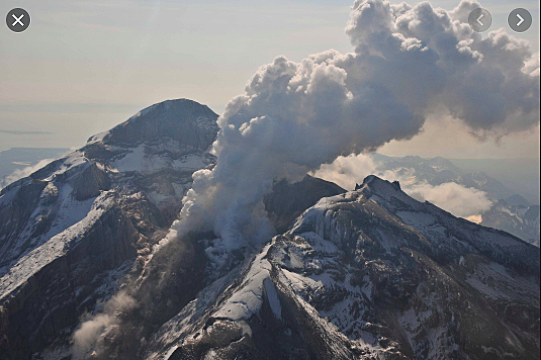 A lahar from the Mt. Redoubt volcano in Alaska flooded part of the oil terminal in Cook Inlet