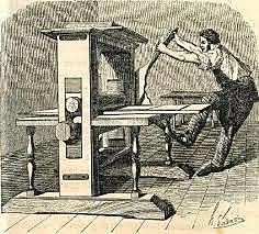 Gutenberg inventa la imprenta, que permite la difusión masiva de textos impresos por primera vez en la historia