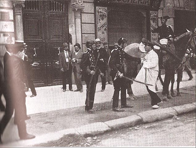 Envío de tropas desde Barcelona