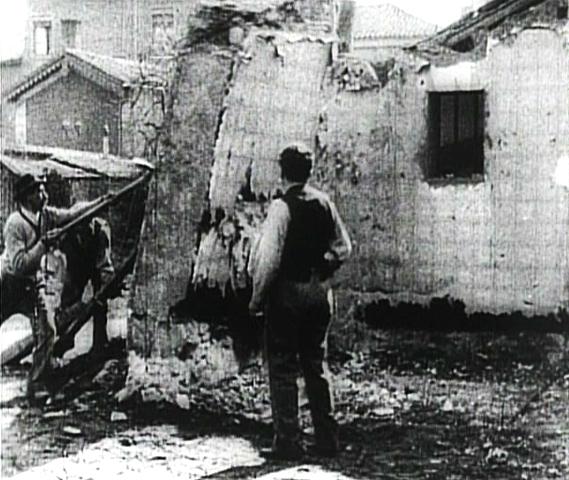 La demolición de un muro