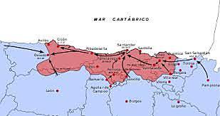 Los franquistas conquistan Bilbao y el resto de los territorios vascos que no se hallaban bajo su control.