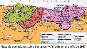 Agosto-octubre de 1937 . Los franquistas completan la conquista del norte de España.