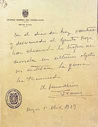 Abril de 1939El general Franco hace público el último parte bélico el día 1: la guerra ha terminado con la victoria de quienes se habían sublevado tres años antes.