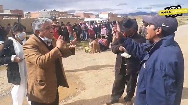 En Laja no acatan la cuarentena e increpan al ministro Arias