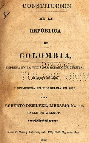 Primera Constitcion de Colombia