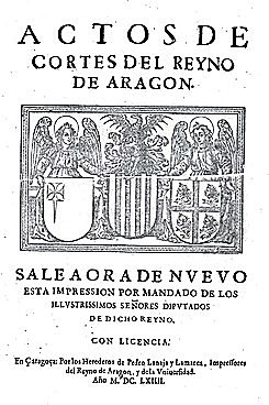 14. El rey de Aragón jura