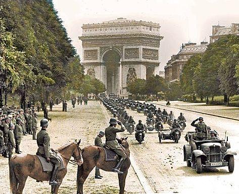 Frankrike faller i Tysklands hender