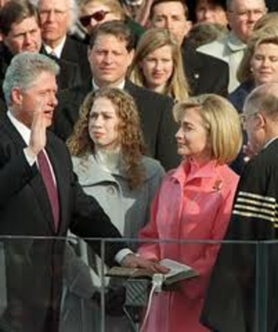 Bill Clinton is inaugurated for his second term