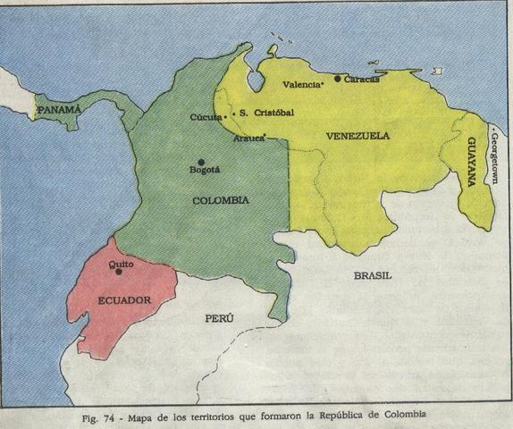Disolucion de la Gran Colombia