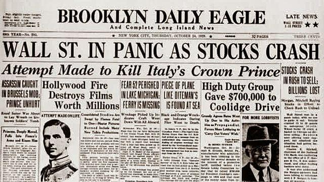 1929: Urte kaoitikoa