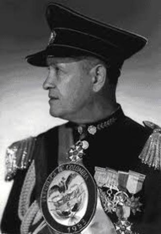Teniente general Gustavo Rojas Pinilla (dictador) - Presidente