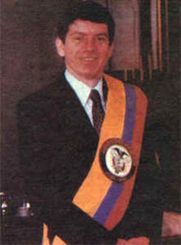 Presidente Electo César Gaviria Trujillo (apertura económica)