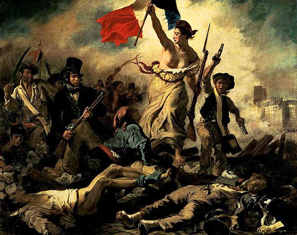 La llibertat guiant el poble, Delacroix