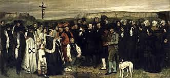 Enterrament a Ornans, Courbet