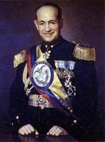 Presidente electo Teniente general Gustavo Rojas Pinilla