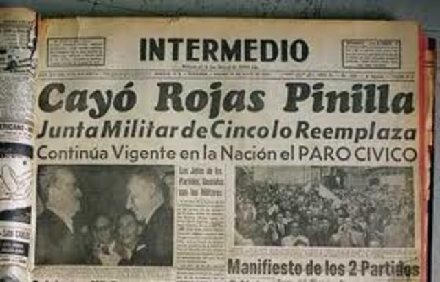 Derrocan a Rojas Pinilla