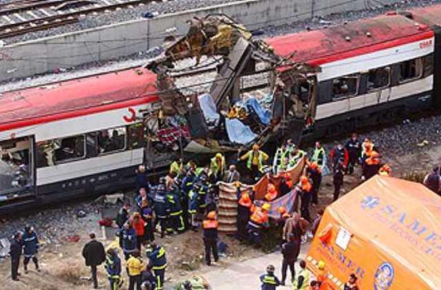 Islamist terrorists attempt to bomb the Spanish high-speed train AVE
