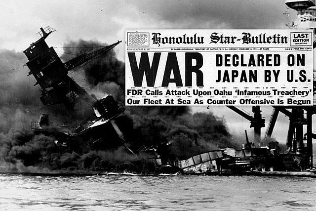 EUA declara guerra ao Japão