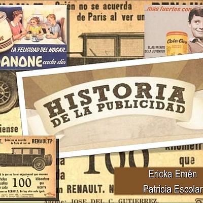 Línea del Tiempo de la Publicidad. timeline